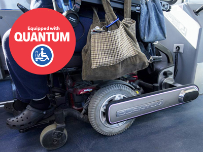 Equiped with Quantum Wheelchair Securement Stations